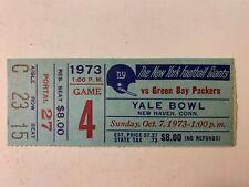 1973 NY Giants vs Green Bay Packers NFL Football Ticket Stub Yale Bowl VG/EX