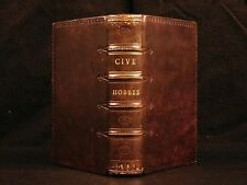 1647 Thomas Hobbes De Cive Political Philosophy On the Citizen Crime Law ELZEVIR