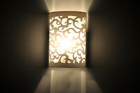 Modern Up & Down Cut Curved White Wall Light Sconce Lighting Lamp Indoor