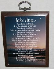 "Wood 3 1/2 X 4 1/2"" TAKE TIME Inspiration Sign Plaque"