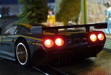 Slotcar LED LICHT Beleuchtung XENON-WEISS Heck & Front mit GOLDCAP für NSR 99999