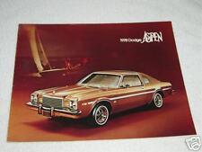 1978 Dodge Aspen Brochure Car Automobile