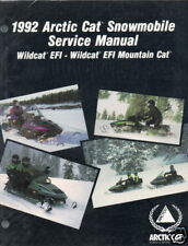1992 ARCTIC CAT SNOWMOBILE WILDCAT EFI SERVICE  MANUAL
