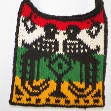 Vtg Ethnic Hippie Gypsy Crochet Bird Bag Purse Hobo Shoulder Tote Rastafarian