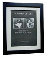 BEAUTIFUL SOUTH+Welcome To South+POSTER+AD+ORIGINAL+1989+FRAMED+FAST GLOBAL SHIP