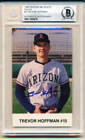 1988 Arizona Wildcats Trevor Hoffman Rookie Autographed HOF Rookie Card Beckett