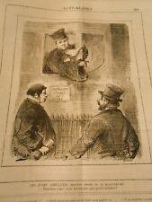 Caricature 1882 - itinerant judges hurry vous vous don't have que 4 minutes