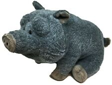 "Wild Republic Pot Bellied Gray Pig Stuffed Animal Potbelly Plush Toy 12"""