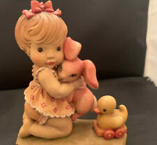 Anri Sarah Kay Girl Hugging bunny With Rubber Duck Large Size 6� 320/4000