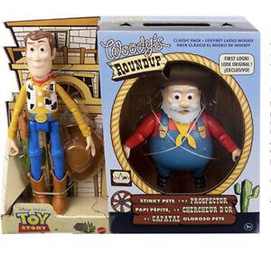 Disney Pixar Woody & Stinky Pete Prospector Figures Toy Story 2 Round Up New
