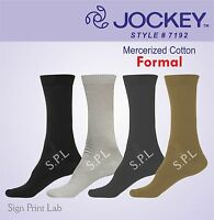 PACK OF 4 JOCKEY ELANCE FORMAL SOCKS 7192-CALF LENGTH-COTTON-ASSORTED-COMFY FIT