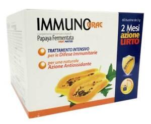 Papaya fermentata antiossidante Azione Urto Immunorac Selerbe 60 bustine+OMAGGIO