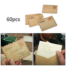60 X Vintage Mini Envelopes for Postcard Letter Paper Stationery Storage Paper