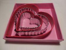 4 piece Heart Wilton Cookie Cutter Set NEW Shape Metal NIB Love Nested