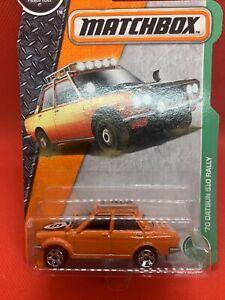 Matchbox MBX Rugged Vehicles 70 Datsun 510 Rally car DVK26 FNQHotwheels FM147