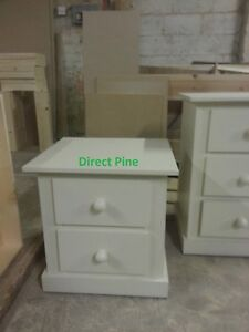 AYLESBURY 2 DRAWER BEDSIDE CABINET CREAM NO FLAT PACKS NO SELF ASSEMBLY