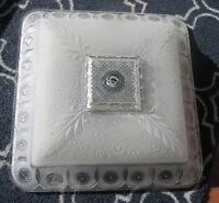 Large Vintage Ceiling Light Fixture Shade Frost Glass 1920's Art Deco Chandelier