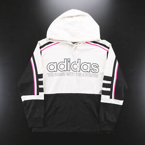 ADIDAS  Black Sports Pullover Hoodie Womens S