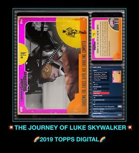 RARE EPIC Topps Vtg STAR WARS NEON Journey of LUKE SKYWALKER digital CARD TRADER