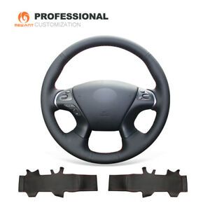 Genuine Leather Steering Wheel Cover for Infiniti JX35 QX60 M56 Nissan Murano