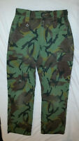 BRITISH TEMPERATE WEATHER MTP TROPICAL CAMOUFLAGE COMBAT PANTS 28 x 30 JJ 905