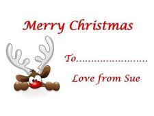 21 Personalizado Regalo De Navidad Etiquetas Calcomanías 3for2 Reno Etiquetas Invitaciones
