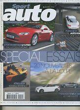 SPORT AUTO n°559 AOÛT 2008 SPECIAL ESSAIS PORSCHE 911PDK KTM-XBOX ASTON V8