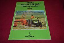 Deutz D 52 06 Tractor Dealer's Brochure YABE15