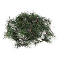 100x Artificial Pine Picks Pine Needle Garland Christmas Holiday Home Decors