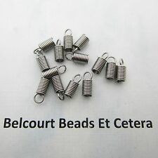 50 Stainless Steel Spring Coil Cord End Connectors 10x4mm Coiled 304 Grade Steel