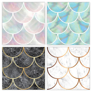 Vintage Tile Stickers Transfers Shell Marble & Pearl Bathroom Kitchen - T23L