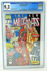 The New Mutants Marvel Comics 98 CGC Graded 9.2 NM- WHITE Pages 1st app DEADPOOL