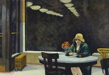 Edward Hopper Automat Canvas 20x30 Inches Wall Art on offer