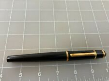 Judd's Very Nice Used Cartier Black Fountain Pen w/18kt. Gold Fine Nib