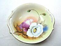 "Vintage Made in Japan Two Handle Floral Handled Bowl 7 1/2"""