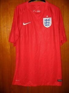 England Football Shirt Nike 2014 red away Shirt size L 42/44