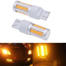 2PCS T20 6500K Yellow 7440 7443 5630 33SMD LED Car Backup Parking Lights Bulb