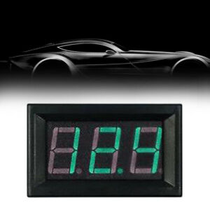 Car Green LED 2 Wired DC Digital Volt Meter Monitor Indicator Gauge Accessories