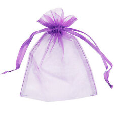200 Organza Bags Jewellery Storage Pouches Party Mesh Drawstring Gift Making UK