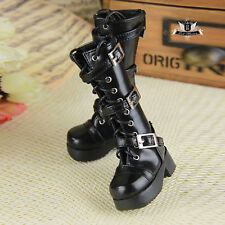 MSD Shoes 1/4 BJD Shoes Supper Dollfie Boots Dollmore Luts AOD DOD Black Shoes
