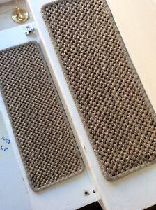 2 Premium Sisal Flat Weave carpet stair pads treads Natural 55cmx20cm