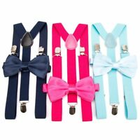 Men Bow Tie Set Suspenders Braces Trousers Women Tirantes Wedding Leisure Stays