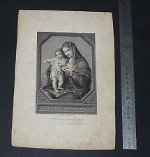 CHROMO 1865 IMAGE PIEUSE CATHOLICISME HOLY CARD VIERGE MARIE MATER DIVINI AMORIS