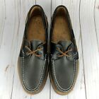 Sperry Mens Gold Cup AO 2 Eye Boat Shoes Grey Handcrafted In Maine Size 10