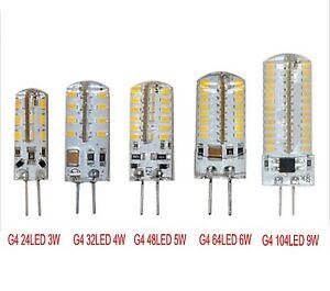 G4 3014SMD 3W-9W LED Crystal lamp light LED Bulb Chandelier DC12V/AC110V/AC220V