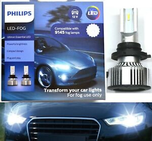 Philips Ultinon LED 40W 6500K White 9045 Two Bulbs Fog Light Replacement Upgrade