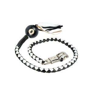 """Get Back Whip With 8 Ball Pool Ball 42"""" Long x 2"""" Stainless Steel Clamp"""