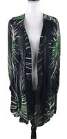 KATE MOSS TOPSHOP Silky Sheer Button Front Long Cover up Blouse Top SZ 6 Viscose