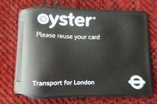 LONDON UNDERGROUND ORIG TFL OYSTER CARD WALLET LIMITED EDITION `BLACK` MINT