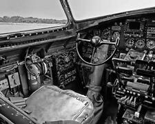 USAAF WW2 B-17 Bomber Pilot's Seat Cockpit #5 8x10 Photo WWII
